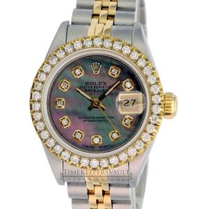 Rolex Lady Datejust Tahitian Diamond Dial 26mm